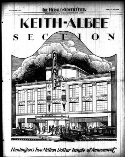Illustration from front page of Keith Albee 1928  opening section in HD