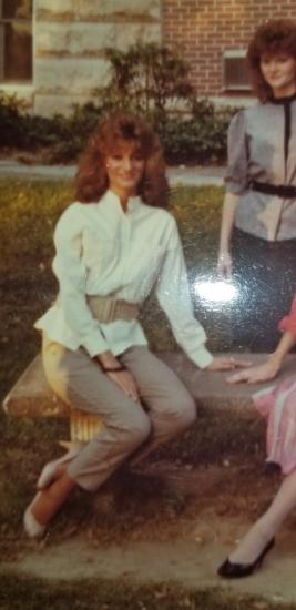 Mia's mom Mimi over 20 years ago on MU campus