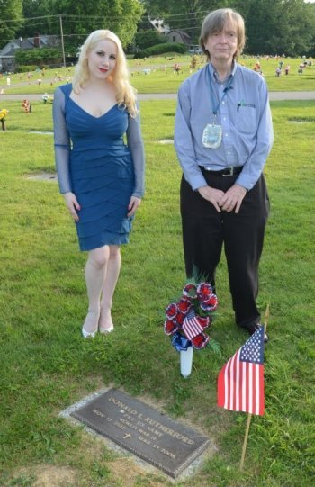 World War II veteran and retired VA Medical Center Supervisor Donald Rutherford remembered by model Lauren Littlepage and Tony Rutherford