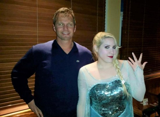 Attorney Tim Eves with Elsa of WV at Council Woman Thacker's Recovery party at Outback