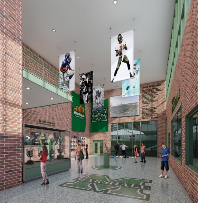 Rendering Hall of Fame Lobby
