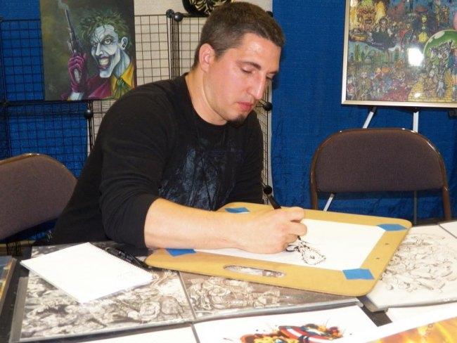 Seth Lyons artist and jack o lantern carver