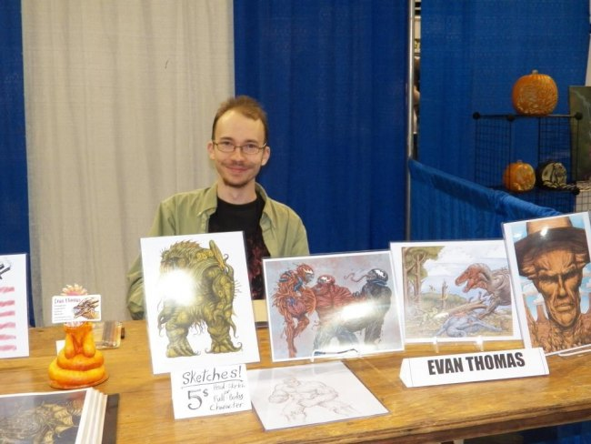 Evan Thoman free lance illustrator as well as G2 comic artist/creator
