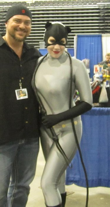 Comic Artist Steve Scott with Else as Catwoman at Tricon