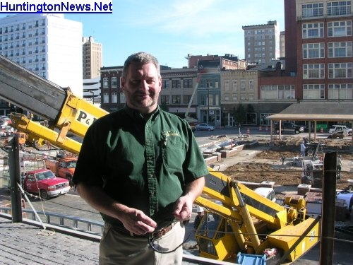 Marquee Cinema owner Curtis McCall during construction of Pullman 16