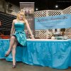 "Professional Pin-up model Selina K poses at the Classic Beauties booth at World of Wheels. Selina will be at this booth Sunday. Be sure to drop by and say ""hello"" to her."