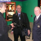 Then Cabell Sheriff Mayor Wolfe, Debbie and photographer Chris Spencer at VIP Party