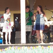 Singers and members of the band Jabberwocky performing