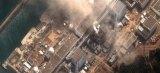 A satellite image of Japan showing damage after an Earthquake and Tsunami at the Dai Ichi Power Plant, Japan. (photo: DigitalGlobe)