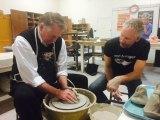 Mayor Helps with Empty Bowl Fund Raiser