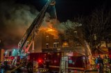 Fire Destroys Business, Apartment Building on 8th Street