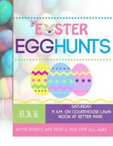 Easter Bunny Hopping at Two Saturday Egg Hunts