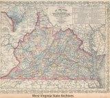 1862 map of Virginia
