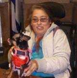 """Three term at large council woman brought her service dog to council meeting. She said, """"Bambi Thacker is the council dog."""""""