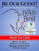 "Local Performers Visiting Two Cinemas in ""Beauty and the Beast"" Costumes"