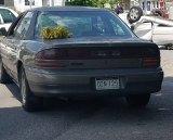 Vehicle whose driver ran stop sign.