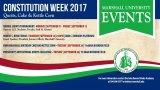 Annual Constitution Week activities kick off next week