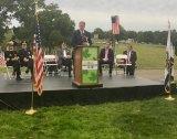 Huntington's W.T.C. Artifact Memorial Plaza  Opens