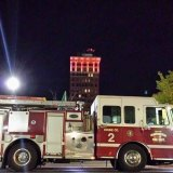 "West Virginia Building will be lit in our special red and white ""siren"" pattern in memory of Probationary Huntington Firefighter John Lambert,"