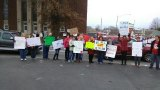 Cabell School Employees Rally by BOE Office