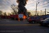 Firefighters Battle Po Boys Blaze