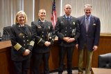 Four Members of Huntington Fire Department Promoted