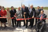 Sen. Rockefeller, Rep. Rahall Cut Airport Ribbon on Runway at Tri State Airport