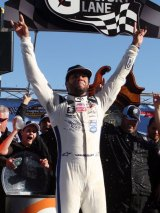 Darrell Wallace Jr. after his win at Martinsville