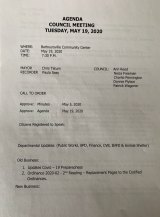 May 19 Barboursville Village Council Agenda