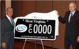 Gov. Earl Ray Tomblin Unveils 'Friends of Coal' License Plate