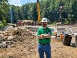 Marshall engineering faculty member helps develop state's first press-brake-formed steel tub girder bridge
