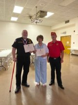 Pair Receives Marine Corps Leagues'  Community Service Award
