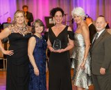 Representatives of the Marshall University/West Virginia Oral Health Coalition celebrate receiving the 2018 Smiles Across America® Program Champion Award from Oral Health America at the 2018 Gala in Chicago on February 21.