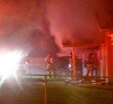 Huntington Firefighters Battle Residencial Fire on Van Buren IMAGES
