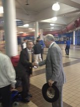 John Raese shakes hands with Bill Raney of the WV Coal Association