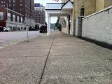 Sidewalk in Front of New VA Homeless Services Center