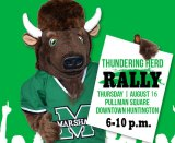 UPDATED: Herd Rally postponed due  to weather;  Rescheduled Pullman Square Aug. 23