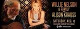 Willie Nelson, Allison Krauss Perform August 12 at BSSA