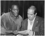 Rene Henry, right, with Rafer Johnson