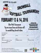 Snowball Tournament Moved to February