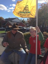 John Raese and a Young Tea Party Supporter on the Campaign Trail in 2012