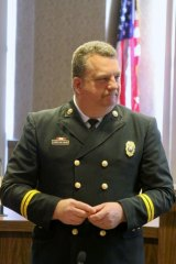 IMAGE GALLERY: Ellis Sworn in as Huntington's Fire Chief