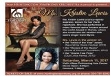 Kristin Lewis Guest Saturday March 11 for Huntington Symphony