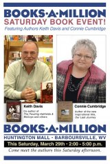 BOOK NOTES: Saturday Woodland Press Events at Books-a-Million in Barboursville, Charleston