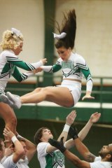 IMAGES: Marshall's Cheerleaders Show Their Stuff Before National Competition
