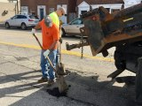 Pot Hole Filling Underway in Huntington