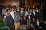 MU President Gilbert Holds Reception for India Students