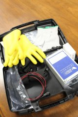 Trooper Eric Workman Foundation donates electro anesthesia gloves to Division of Natural Resources