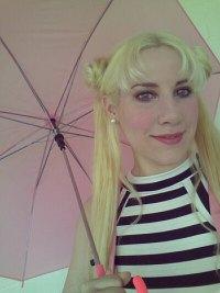 Bunny Bombshell at summer picnic as Sailor Moon.