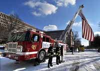 "Firefighters Fly ""Patriot Flag"" at Capitol"